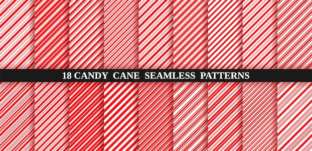 Candy cane red stripes seamless pattern. christmas candycane background. peppermint caramel diagonal print.