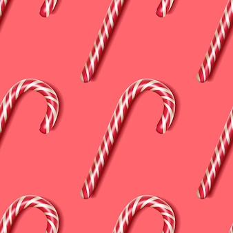 キャンディケイン-シームレスなパターン、クリスマスのシンボル。お祝いの壁紙