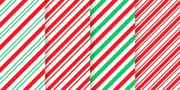 Candy cane stripe pattern. seamless christmas texture. red green peppermint wrapping paper.