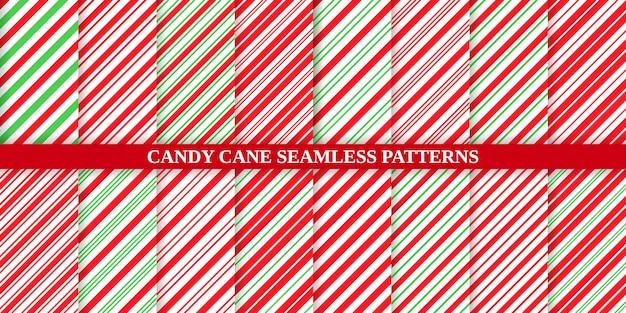 사탕 지팡이 스트라이프 패턴.