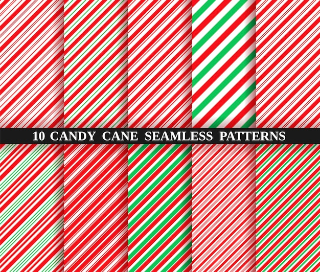 Candy cane stripe seamless pattern. christmas texture.