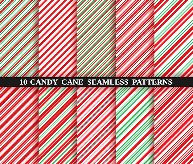 Candy cane stripe seamless pattern. christmas texture