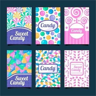 사탕 카드 디자인 서식 파일 모음