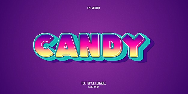 Candy cartoon  text style effect