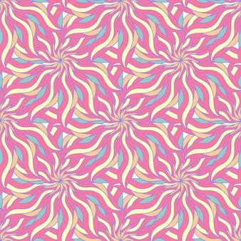 Конфеты цвета бесшовные модели с абстрактным цветком. бесконечный фон. векторный фон. летний бесшовный шаблон.
