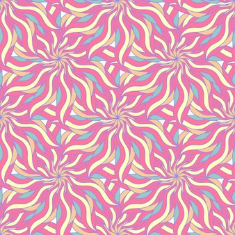 Candy colors of seamless pattern with abstract flower. endless background. vector backdrop. summer seamless template.