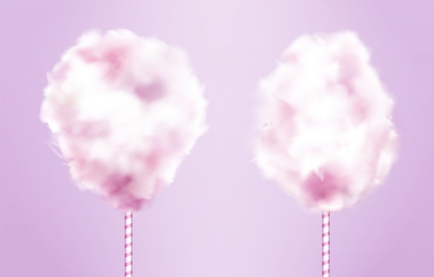 Candy cotton on stick set
