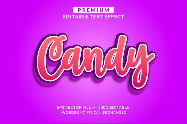 キャンディかわいいピンク編集可能なテキスト効果フォントスタイル