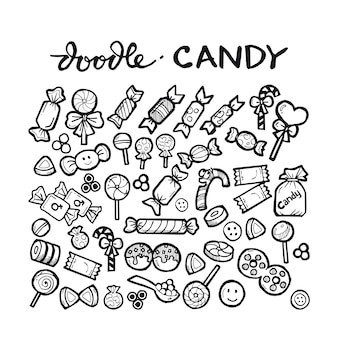 Candy doodle hand drawn