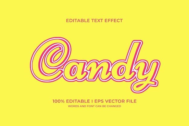 Candy editable text effect
