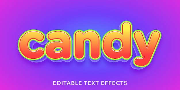Candy editable text effects