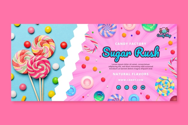 Candy factory banner template