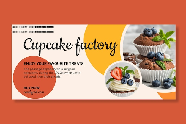 Candy factory horizontal banner template