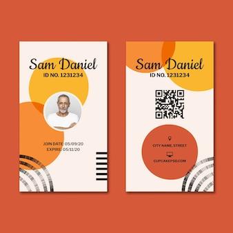 Candy factory id card template