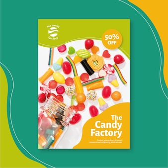 Candy flyer template