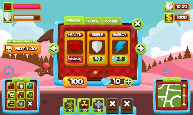 Пользовательский интерфейс candy game