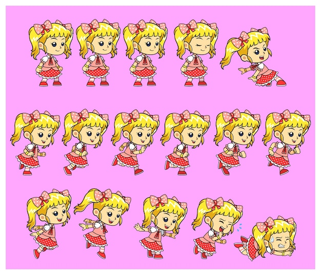 Candy girl game sprites