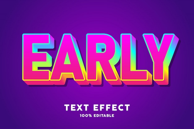 Candy gradient text effect