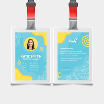 Candy id card template