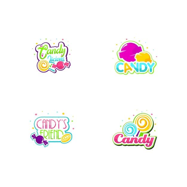 Candy logo set