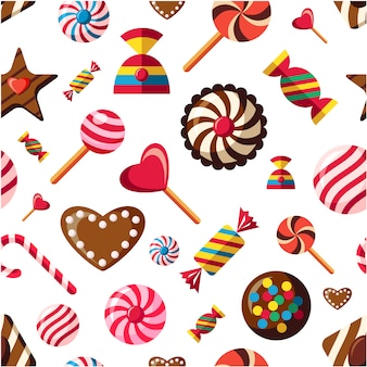 Candy pattern background