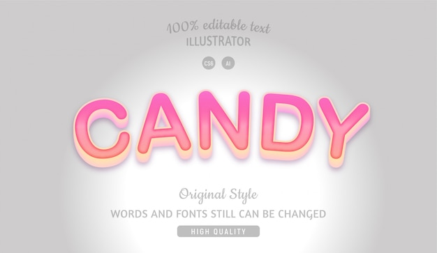 Candy pink editable text with gradient.
