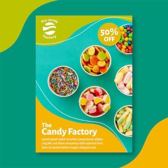 Шаблон плаката конфеты