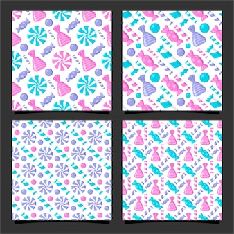 사탕 원활한 패턴 디자인 컬렉션