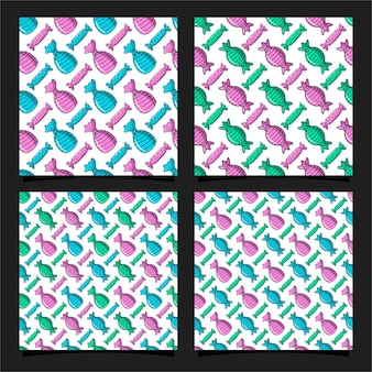 사탕 원활한 패턴 디자인 서식 파일 컬렉션