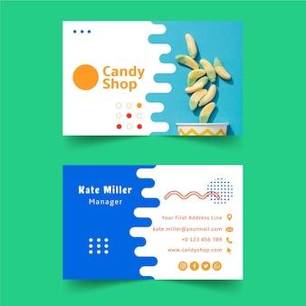 Шаблон визитной карточки кондитерской