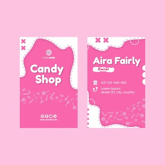 Candy shop double-sided business card