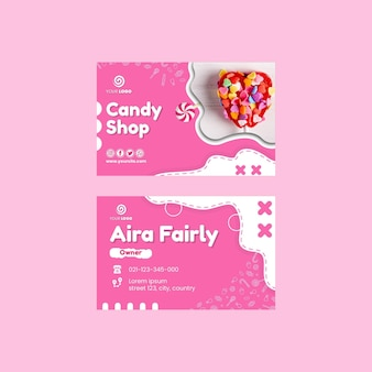Candy shop horizontal business card