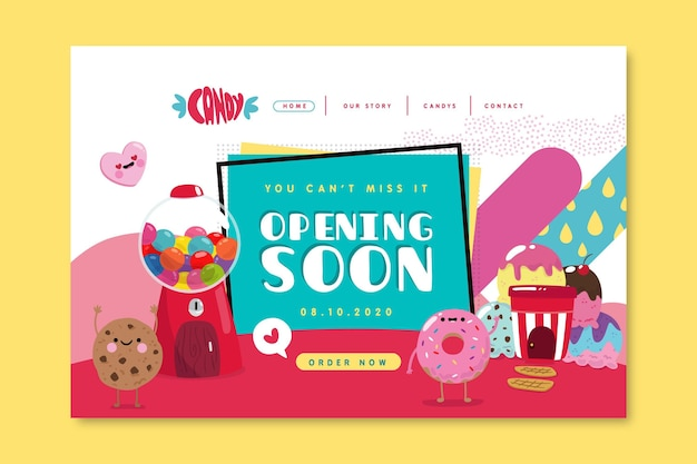 Candy shop landing page template