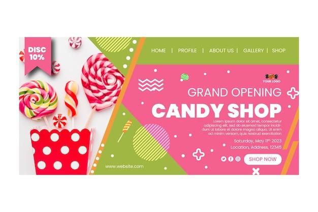 Pagina di destinazione del negozio di caramelle