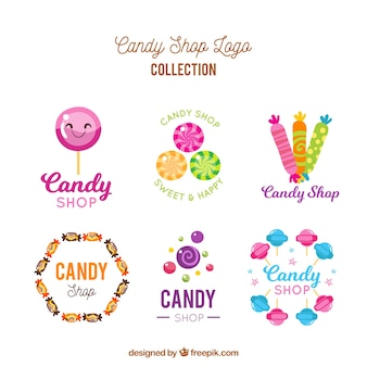 Candy shop logos collection for companies
