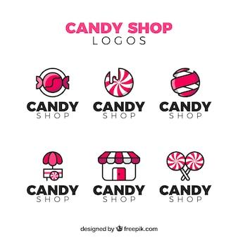 会社のキャンディショップロゴコレクション