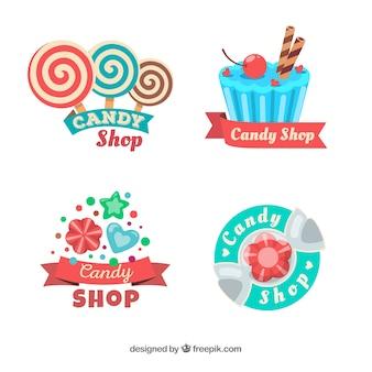회사를위한 사탕 가게 로고 모음