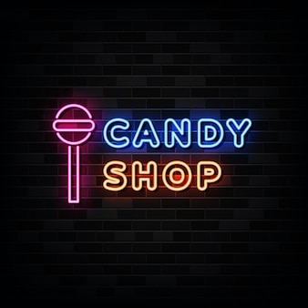 Candy shop neon signs