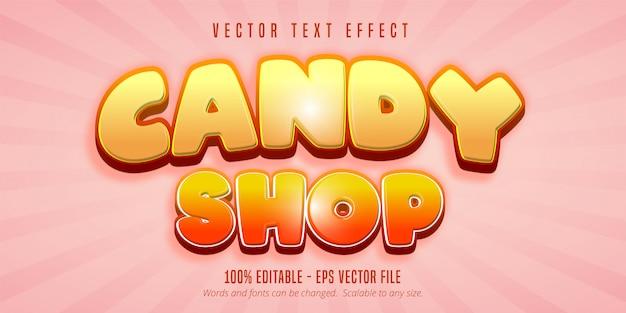 Текст кондитерской, редактируемый текстовый эффект в игровом стиле