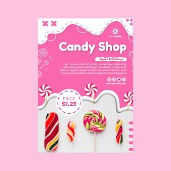 Candy shop vertical flyer template
