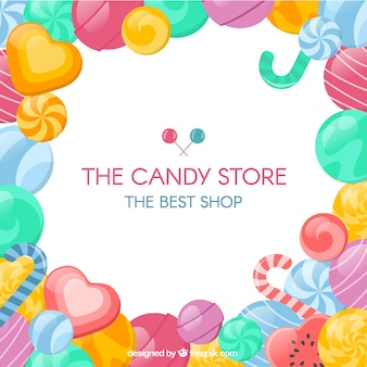 Candy store background