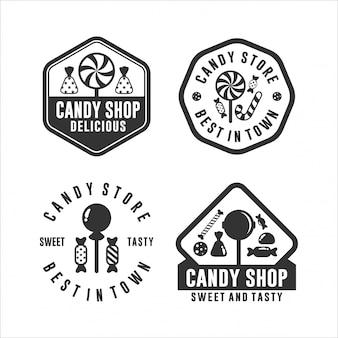 町のロゴで最高のキャンディストア