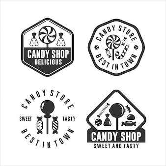 Candy store best in town logos