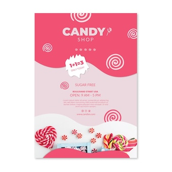 Candy store poster template