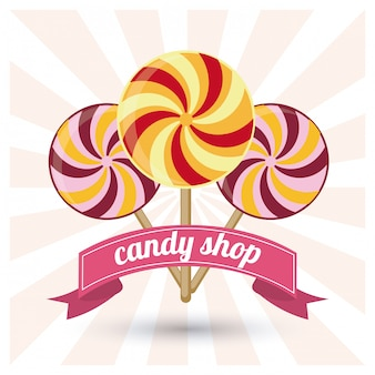 Candy. sweet icon. dessert concept illustration