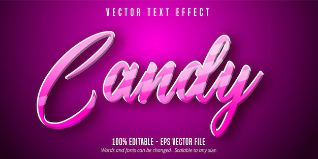 Candy text, cartoon style editable text effect