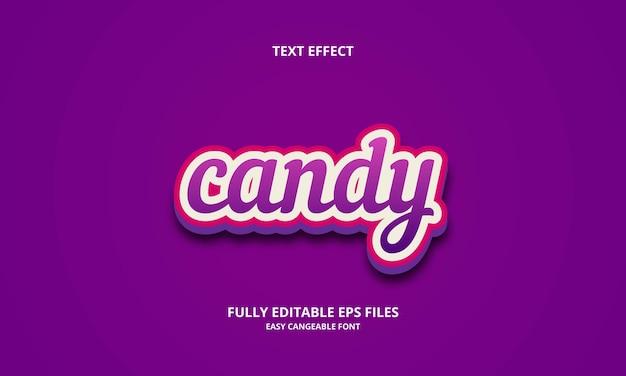 Candy text effect design template