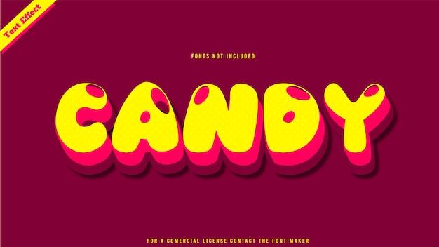Candy text effect design vector. editable 3d text effect