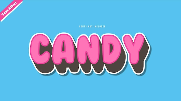 Candy text effect design vector