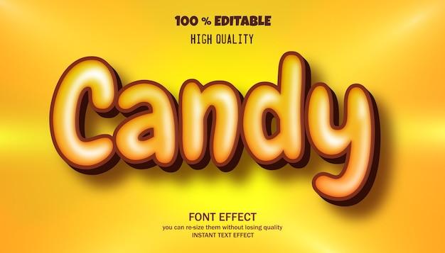 캔디 텍스트 효과, 편집 가능한 글꼴